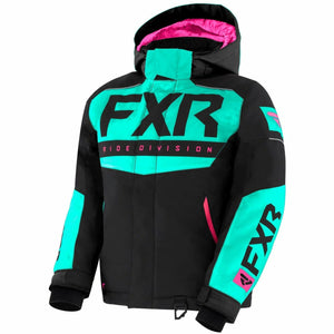 FXR Helium Youth Jacket 21 Jacket FXR Black/Mint/Elec Pink 10