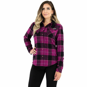 FXR Timber Hooded Flannel Women's Shirt 21 Casual FXR Wineberry/Blk XS