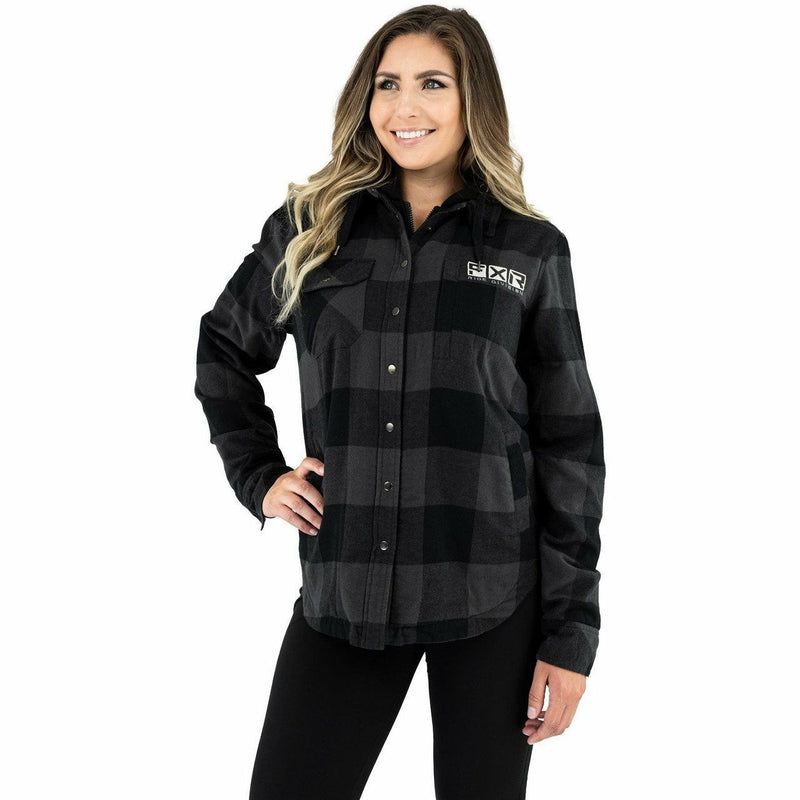 FXR Timber Insulated Flannel Women's Jacket 21 Casual FXR Char/Black XS