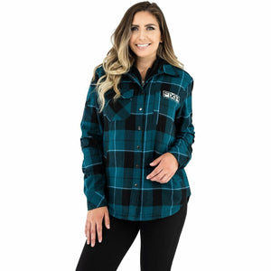 FXR Timber Insulated Flannel Women's Jacket 21 Casual FXR Ocean/Black XS