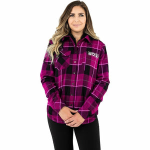 FXR Timber Insulated Flannel Women's Jacket 21 Casual FXR Wineberry/Blk XS