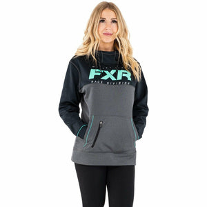 FXR Pursuit Tech Pullover Women's Hoodie 21 Casual FXR Char Heather/Mint XS