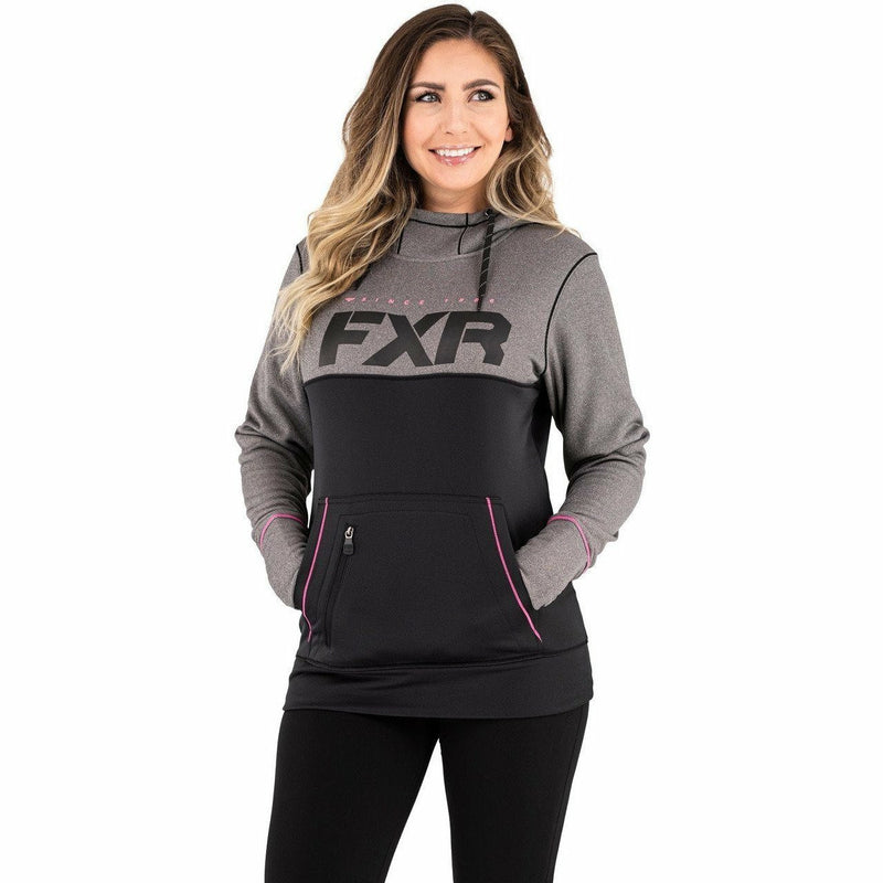 FXR Pursuit Tech Pullover Women's Hoodie 21 Casual FXR Black/Elec Pink XS