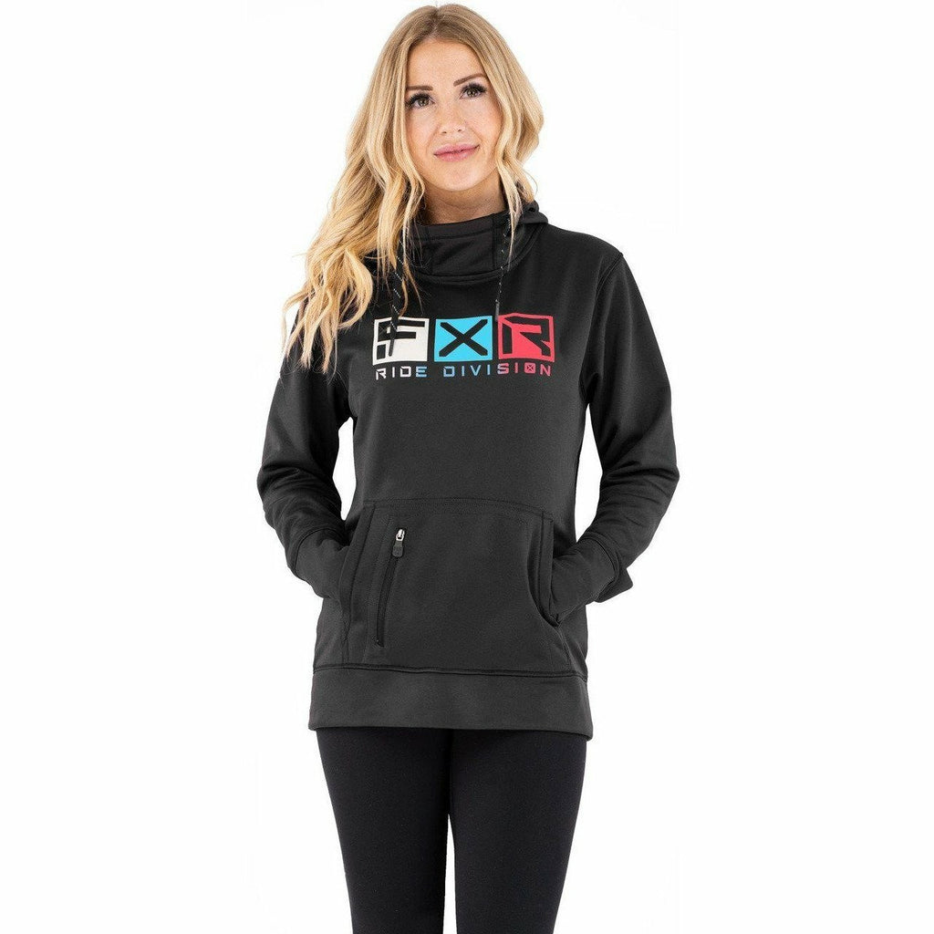 FXR Helium Tech Women's Pullover Hoodie Casual FXR Black/Sky Blue XS