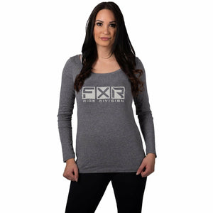 FXR Helium Tech Women's Longsleeve 21 Casual FXR Grey Heather/Bone XS