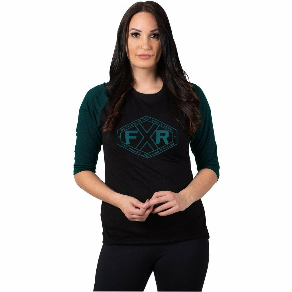 FXR Evo Tech 3/4 Sleeve Women's Shirt 21 Casual FXR Black/Ocean Heather XS