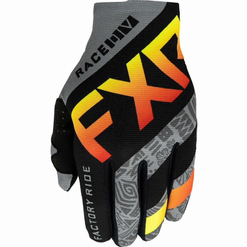 FXR Slip-On Lite MX Glove 21 Gloves FXR Grey Aztec/Black/Red/Hi Vis S
