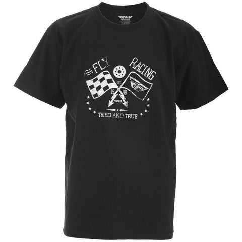 Fly Racing Youth Tried and True Tee T-Shirt Fly Racing BLACK YL