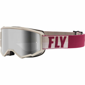 Fly Racing Zone Youth Goggle 21 Fly Racing 2021 Stone/Berry W/Silver Mirror/Smoke Lens W/Post 21