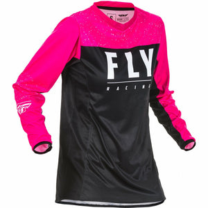 Fly Racing Women's Motocross Lite Jersey Jersey Fly Racing Pink/Black YL