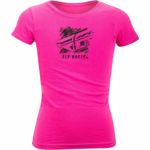 Fly Racing Girl's Crayon Tee T-Shirt Fly Racing RASPBERRY YM