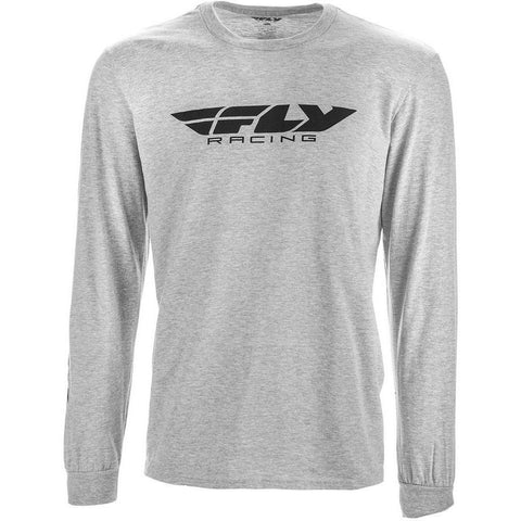 Fly Racing Corporate Long Sleeve Tee T-Shirt Fly Racing GREY HEATHER XL