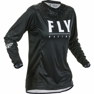 Fly Racing Women's Motocross Lite Jersey Jersey Fly Racing Black/White YL