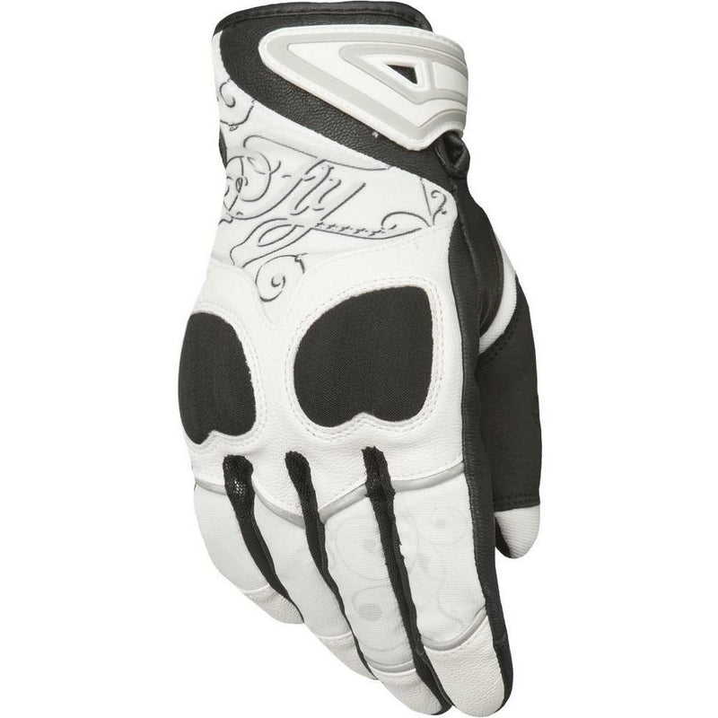 Fly Racing Women's Venus Street Gloves Gloves Fly Racing WHITE/BLACK LG