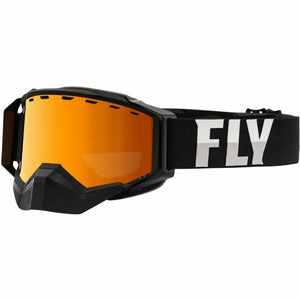 Fly Racing Zone Pro Snow Goggle 21 Fly Racing 2021 Black/Grey W/Orange Mirror/Ploarized Smoke Lens 21