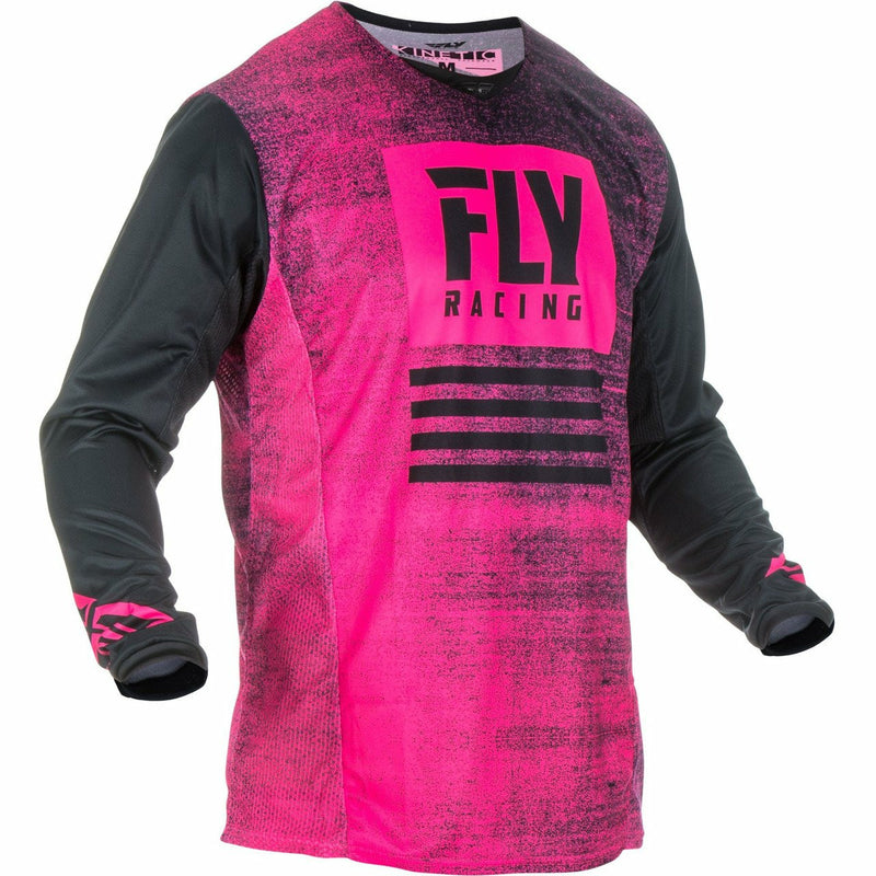 Fly Racing Kinetic Noiz Jersey Jersey Fly Racing NEON PINK/BLACK YS