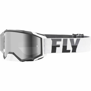 Fly Racing Zone Pro Goggle 21 Fly Racing 2021 White/Black W/Dark Smoke Lens W/Post 21