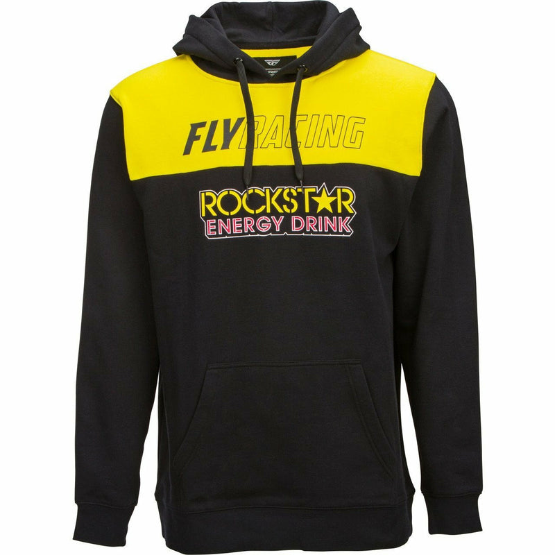Fly Racing Rockstar Pullover Hoodie 21 Fly Racing 2021 BLACK/YELLOW/RED 2X