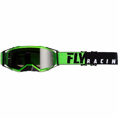 Fly Racing 2019 Zone Pro Goggle Goggles Fly Racing BLACK/GREEN W/DARK SMOKE LENS