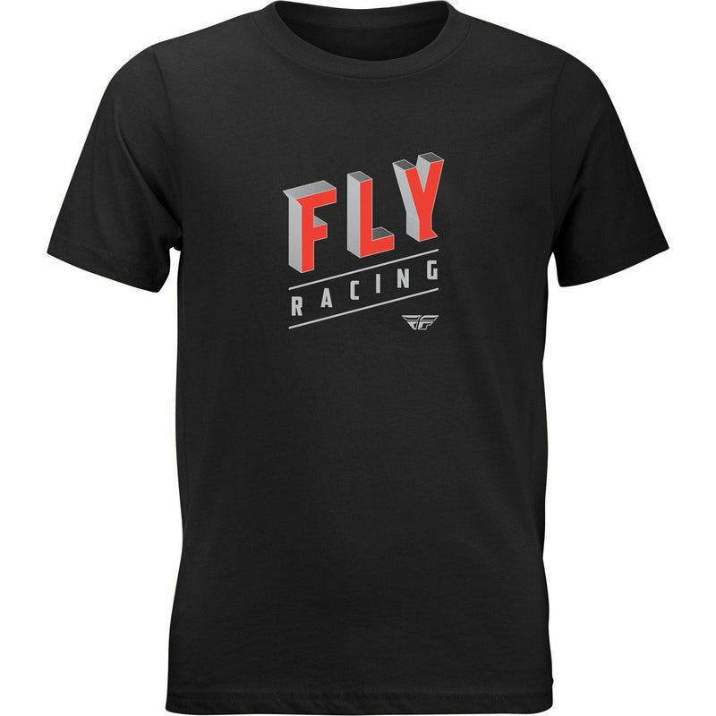 Fly Racing Boy's Dimension Tee 2020 Fly 2020 BLACK YM