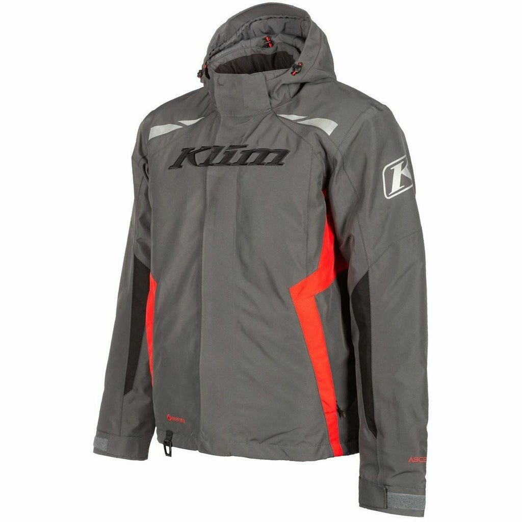 Klim Rift Jacket 21 Jacket Klim Asphalt - High Risk Red SM