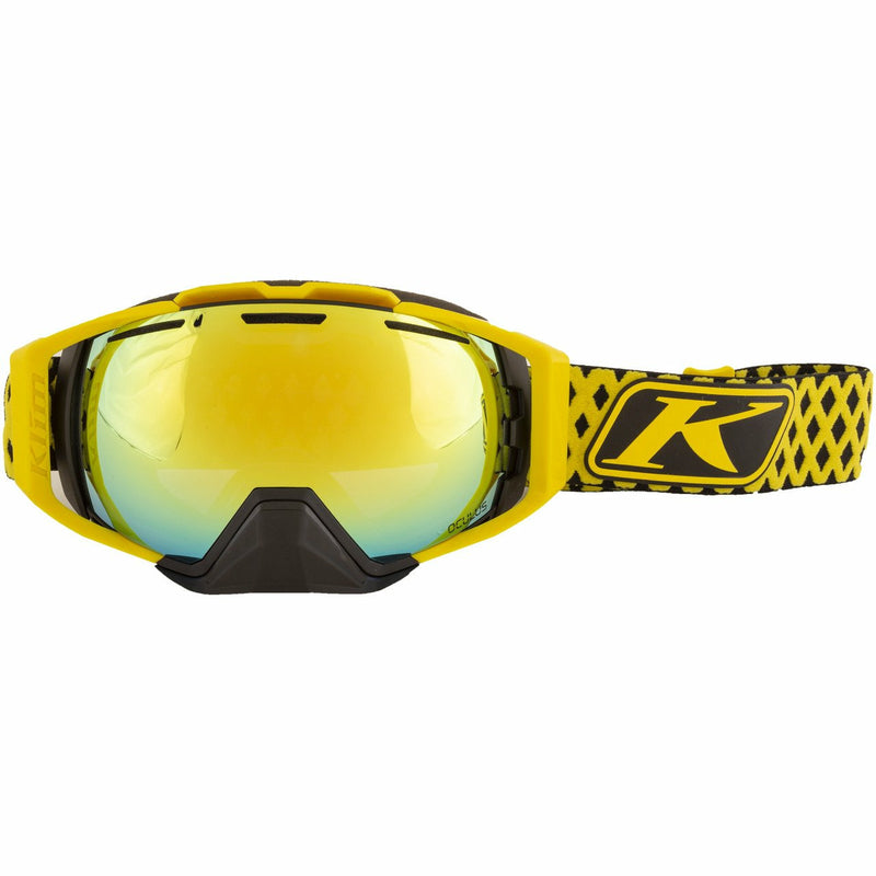 Klim Oculus Goggle - New Goggles Klim Oculus Goggle Diamond Fade Yellow Smoke Gold Mirror and Light Yellow Tint