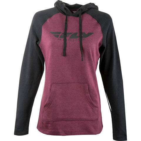 Fly Racing Women's Lightweight Hoodie Hoodie Fly Racing BURGUNDY/BLACK LG