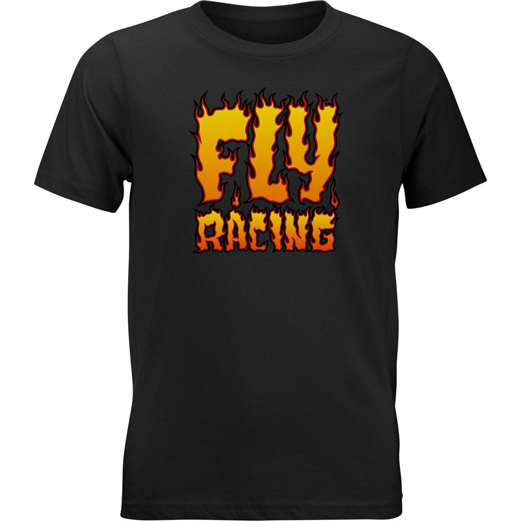 Fly Racing Youth Fire Tee 21 Fly Racing 2021 BLACK YL