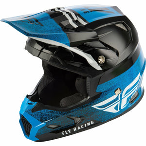 Fly Racing Toxin MIPS Embargo Motocross Helmet Helmet Fly Racing BLACK/BLUE YL