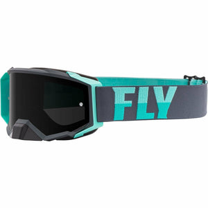 Fly Racing Zone Pro Goggle 21 Fly Racing 2021 Grey/Mint W/Dark Smoke Lens W/Post 21