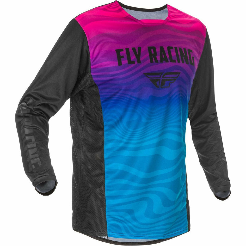 Fly Racing Kinetic SE Jersey 21 Fly Racing 2021 BLACK/PINK/BLUE 2X