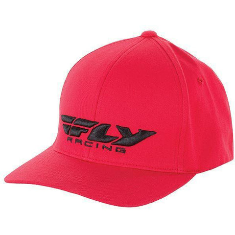 Fly Racing Podium Hat Hat Fly Racing RED YOUTH