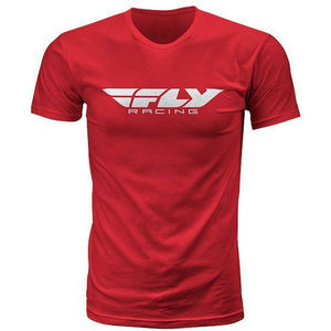 Fly Racing Corporate Tee T-Shirt Fly Racing RED 2X