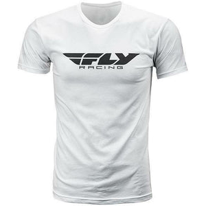 Fly Racing Corporate Tee T-Shirt Fly Racing WHITE YM