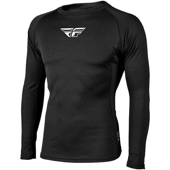 Fly Racing Heavyweight Base Layer Top Layers Fly Racing Black 2X