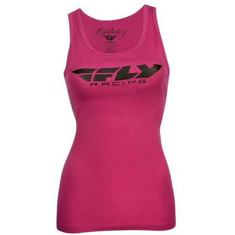 Fly Racing Women's Corporate Tank T-Shirt Fly Racing Pink SM