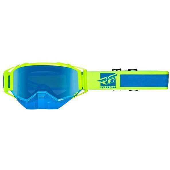 Fly Racing 2019 Zone Snow Goggle Goggles Fly Racing Hi-Vis/Blue W/Blue Mirror