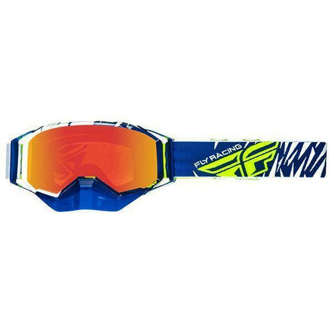 Fly Racing 2019 Zone Snow Goggle Goggles Fly Racing Blue/White/Hi-Vis W/Fire