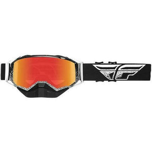 Fly Racing 2019 Zone Snow Goggle Goggles Fly Racing Black/White W/Red Mirror
