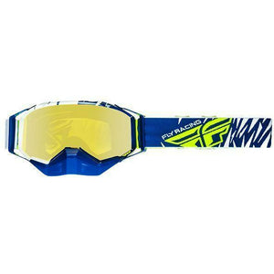 Fly Racing 2019 Zone Snow Goggle Goggles Fly Racing Blu/Wht/Hi-Vis W/Polarized Yel
