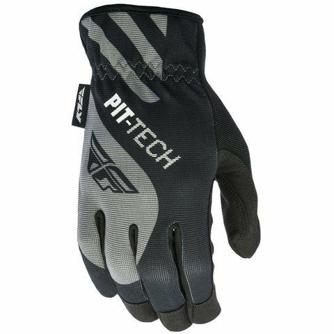 Fly Racing Pit-Tech Lite Moto Glove Gloves Fly Racing Black Small (08)