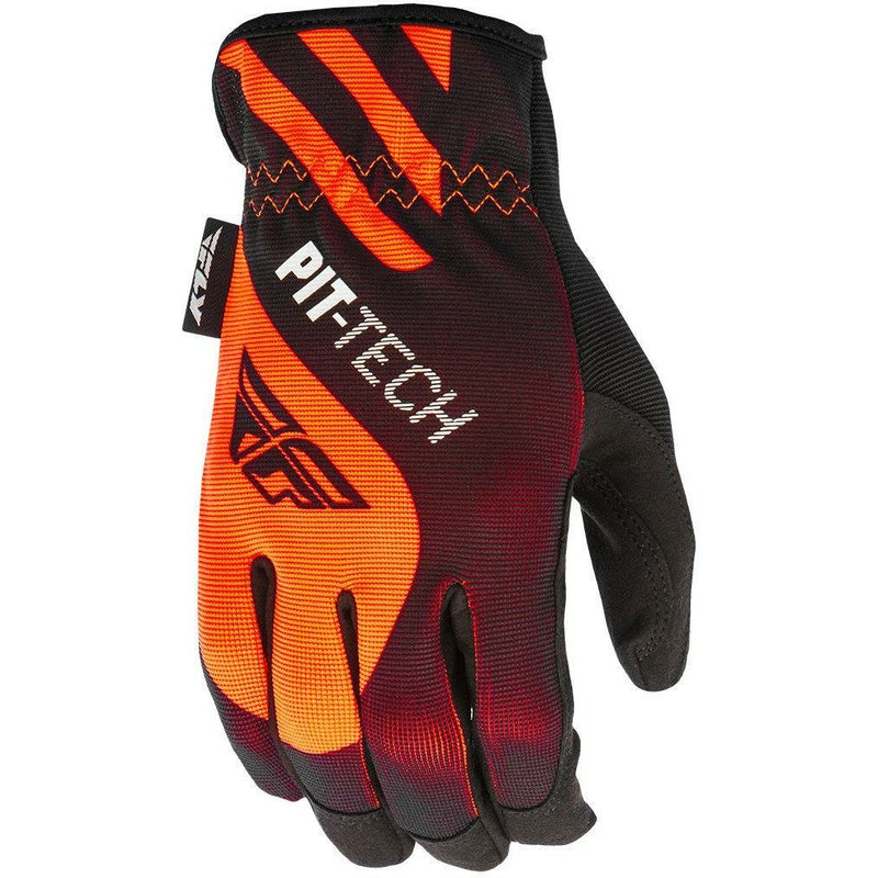 Fly Racing Pit-Tech Lite Moto Glove Gloves Fly Racing Flo Orange/Black Small (08)