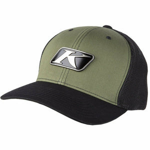Klim Icon Snapback Hat Hat Klim Green - Black Adult