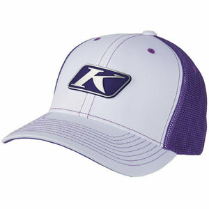 Klim Icon Snapback Hat Hat Klim White - Deep Purple Adult