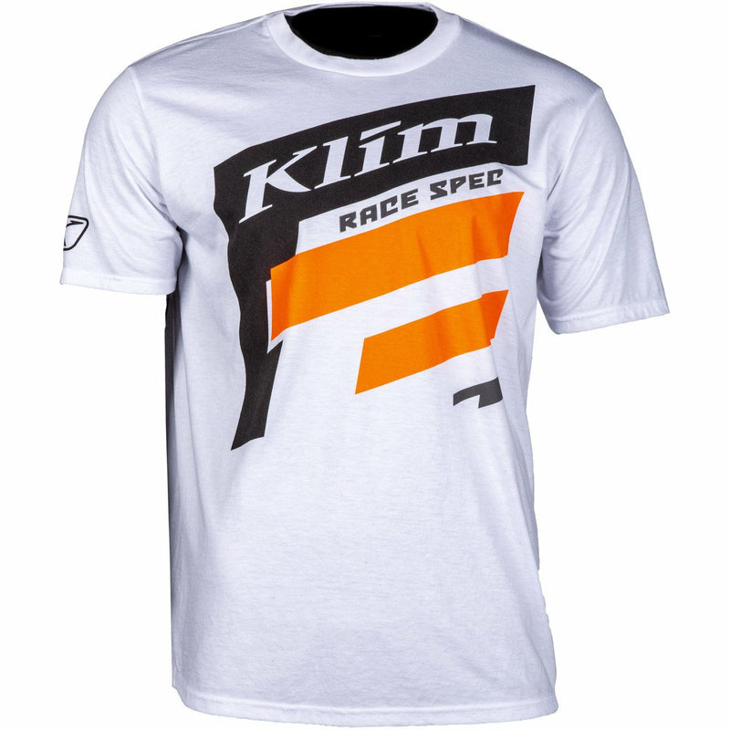 Klim Race Spec SS T - New T-Shirt Klim Race Spec SS T SM White - Strike Orange