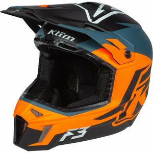 Klim F3 Helmet ECE - New Helmet Klim F3 Helmet ECE SM Tectonic Strike Orange