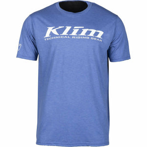 Klim K Corp SS T - New T-Shirt Klim K Corp SS T YSM Blue Frost - White