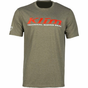 Klim K Corp SS T - New T-Shirt Klim K Corp SS T SM Military Green - High Risk Red