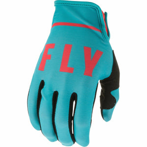 Fly Racing Youth Lite Gloves Fly Racing Off-Road Blue/Coral 5
