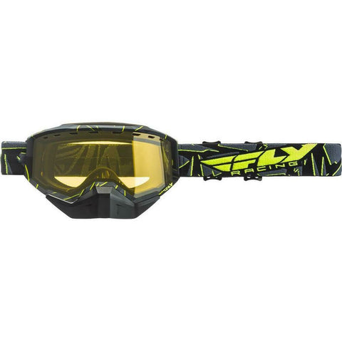 Fly Racing 2019 Zone Snow Goggle Goggles Fly Racing Black/Hi-Vis W/Yellow